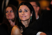 Actress Julia Louis-Dreyfus looks on during the White House Correspondents' Association (WHCA) in Washington, District of Columbia, U.S., on Thursday, April 27, 2013. Photographer: Pete Marovich/Bloomberg