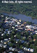 Aerial, Susquehanna River, Bradford Co.,  Towanda, PA
