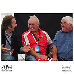 Emerson Fittipaldi;Chris Amon;Bruce Harre at the Launch of the Bruce McLaren Movie project at the A1 Grand Prix of New Zealand at the Taupo Motorsport Park, Taupo, New Zealand.