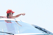 Princess Elena on board of Somni during the 37th Copa Del Rey Mapfre Sailing Cup on August 1, 2018 in Palma, Spain