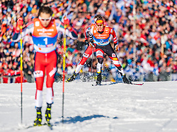 28.02.2019, Seefeld, AUT, FIS Weltmeisterschaften Ski Nordisch, Seefeld 2019, Nordische Kombination, Langlauf, im Bild Franz-Josef Rehrl (AUT) // Franz-Josef Rehrl of Austria during the Cross Country Competition of Nordic Combined for the FIS Nordic Ski World Championships 2019. Seefeld, Austria on 2019/02/28. EXPA Pictures © 2019, PhotoCredit: EXPA/ Stefan Adelsberger