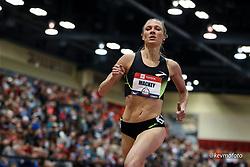 2020 USATF Indoor Championship<br /> Albuquerque, NM 2020-02-15<br /> photo credit: © 2020 Kevin Morris<br /> womens 1500m, Brooks