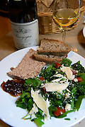 salad pate cheese bread and burgundy wine beaune cote de beaune burgundy france
