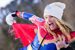 January 19, 2018 - Cortina D'Ampezzo, Dolimites, Italy - Julia Mancuso of United States of America ending her professional skiing career at the Cortina d'Ampezzo FIS World Cup in Cortina d'Ampezzo, Italy on January 19, 2018. (Credit Image: © Rok Rakun/Pacific Press via ZUMA Wire)