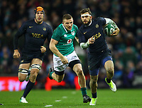 Rugby Union - 2017 Guinness Series (Autumn Internationals) - Ireland vs. Argentina<br /> <br /> Argentina's Ramiro Moyano breaks from Ireland's Andrew Conway, at the Aviva Stadium.<br /> <br /> COLORSPORT/KEN SUTTON