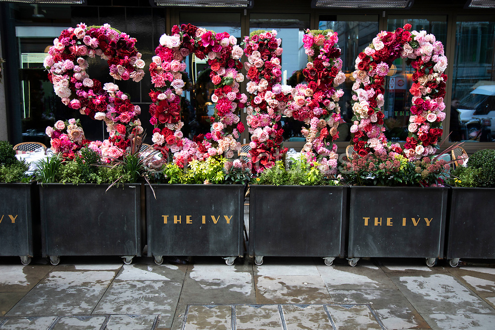 Floral tribute to Soho in London, United Kingdom.