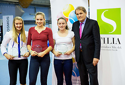 Potocnik Nina, Pislak Manca, Zidancek Tamara and Marko Umberger at Tennis exhibition day and Slovenian Tennis personality of the year 2013 annual awards presented by Slovene Tennis Association TZS, on December 21, 2013 in BTC City, TC Millenium, Ljubljana, Slovenia.  Photo by Vid Ponikvar / Sportida