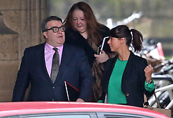 © Licensed to London News Pictures. 30/11/2015. London, UK. Labour Party deputy leader Tom Watson (L) walks Parliament for a Shadow Cabinet meeting with Gloria de Piero, the shadow women and equalities minister. The Shadow Cabinet are to decide on how the Labour Party would vote on a motion to bomb Syria. Photo credit: Peter Macdiarmid/LNP