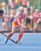 ARNHEM - Maartje Goderie, donderdag tijdens de oefenwedstrijd tussen de vrouwen van Nederland en Zuid Afrika. COPYRIGHT KOEN SUYK