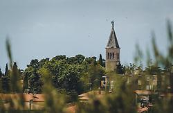 THEMENBILD - der Kirchturm der St. Pelagia Kirche, aufgenommen am 03. Juli 2020 in Novigrad, Kroatien // the steeple of St. Pelagia's Church, in Novigrad, Croatia on 2020/07/03. EXPA Pictures © 2020, PhotoCredit: EXPA/ Stefanie Oberhauser