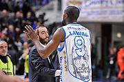 DESCRIZIONE : Campionato 2014/15 Dinamo Banco di Sardegna Sassari - Dolomiti Energia Aquila Trento<br /> GIOCATORE : Shane Lawal Luigi Peruzzu<br /> CATEGORIA : Ritratto Delusione Proteste Postgame<br /> SQUADRA : Dinamo Banco di Sardegna Sassari<br /> EVENTO : LegaBasket Serie A Beko 2014/2015<br /> GARA : Dinamo Banco di Sardegna Sassari - Dolomiti Energia Aquila Trento<br /> DATA : 04/04/2015<br /> SPORT : Pallacanestro <br /> AUTORE : Agenzia Ciamillo-Castoria/L.Canu<br /> Predefinita :