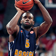 Asseco Prokom's Oliver Lafayette during their Euroleague group D matchday 6 Galatasaray between Asseco Prokom at the Abdi Ipekci Arena in Istanbul at Turkey on Thursday, November 24 2011. Photo by TURKPIX