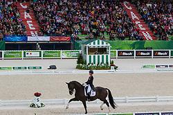 Charlotte Dujardin, (GBR), Valegro - Grand Prix Team Competition Dressage - Alltech FEI World Equestrian Games™ 2014 - Normandy, France.<br /> © Hippo Foto Team - Leanjo de Koster<br /> 25/06/14