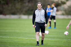 March 14, 2018 - Torrevieja, SPAIN - Gent's head coach Yves Vanderhaeghe pictured during the second day of the training camp of Belgian first division soccer team KAA Gent, in Torrevieja, Spain, Wednesday 14 March 2018. The team is preparing for the Play-off 1 of the Belgian soccer championship. BELGA PHOTO JASPER JACOBS (Credit Image: © Jasper Jacobs/Belga via ZUMA Press)