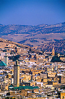 View of the Medina (Fes el-Bali) Old Fes from the Borj Sud, Fez (Fes), Morocco