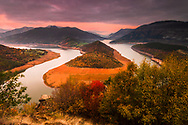 The magnificeint view to Kardzhali lake at autumn