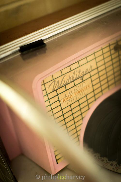 Close up of jukebox with speaker, Havana, Cuba