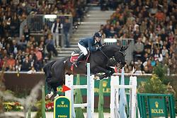 Delestre Simon, (FRA), Qlassic Bois Margot <br /> Grand Prix ROLEX<br /> Genève 2015<br /> © Hippo Foto - Dirk Caremans<br /> 13/12/15