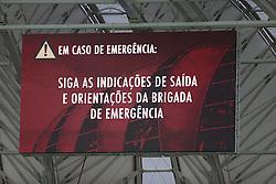 Placar do estádio Beira Rio na partida contra o Caxias, válida pela 8ª rodada do Campeonato Gaúcho, no estádio Beira Rio, em Porto Alegre. Este é o primeiro evento-teste da arena após as reformas para a Copa do Mundo. FOTO: Jefferson Bernardes/ Agência Preview