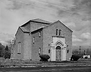 9119-2368-A01. Ahavath Achim Synagog in-situ at original site, before moving. Before July, 1962.
