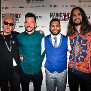 Elliot Grove,Oliver Clark , Amir Khan and Blair MacDonald attend World Premiere of Team Khan - Raindance Film Festival 2018 at Vue Cinemas - Piccadilly, London, UK. 29 September 2018.