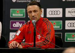 July 27, 2018 - Miami Gardens, FL, USA - FC Bayern head coach Niko Kovac during a news conference in advance of an International Champions Cup match against Manchester City at Hard Rock Stadium in Miami Gardens, Fla., on Friday, July 27, 2018. (Credit Image: © Pedro Portal/TNS via ZUMA Wire)
