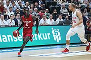 BASKETBALL: VTG Supercup 219, Deutschland - Polen, Hamburg, 18.08.2019<br /> Dennis Schröder (Deutschland, l.) - Lukasz Koszarek (Polen)<br /> © Torsten Helmke