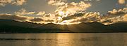 Sunset, Sandbar, Kaneohe Bay, Oahu, Hawaii