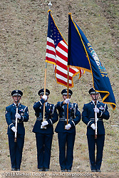 Honor Guard at the Gunstock Hillclimbs during Laconia Motorcycle Week. NH, USA. Wednesday, June 13, 2018. Photography ©2018 Michael Lichter.