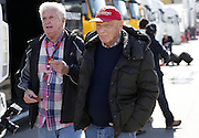 March 1, 2016 - Barcelona, Spain - <br /> <br /> BARCELONA -march 01- SPAIN: Niki Lauda during the F1 tests in the Barcelona-Catalunya Circuit, on march 01, 2016. <br /> ©Exclusivepix Media