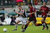 Siena 17/4/2004 Campionato Italiano Serie A <br />30a Giornata - Matchday 30 <br />SIENA MILAN 1-2<br />TORE ANDRE FLO AND BILLY COSTACURTA<br /> Foto Andrea Staccioli Graffiti