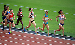 Great Britain's Jessica Judd (right) competes in the women's 1500m heats during day one of the 2017 IAAF World Championships at the London Stadium.