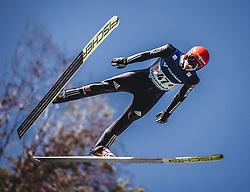 30.09.2018, Energie AG Skisprung Arena, Hinzenbach, AUT, FIS Ski Sprung, Sommer Grand Prix, Hinzenbach, im Bild Karl Geiger (GER) // Karl Geiger of Germany during FIS Ski Jumping Summer Grand Prix at the Energie AG Skisprung Arena, Hinzenbach, Austria on 2018/09/30. EXPA Pictures © 2018, PhotoCredit: EXPA/ Stefanie Oberhauser