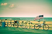 Bikes on Asbury Park boardwalk
