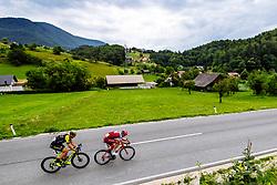 Roger Kluge of Mitchelton Scott and Marcel Kittel of Team Katusha Alpecin at Frankolovo during 3rd Stage of 25th Tour de Slovenie 2018 cycling race between Slovenske Konjice and Celje (175,7 km), on June 15, 2018 in  Slovenia. Photo by Matic Klansek Velej / Sportida