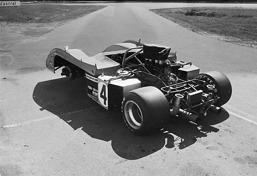 Peter Revson's McLaren M20 during practice for the 1972 Can-Am at Donnybrooke, Minn; Photo by Pete Lyons 1972/ © Pete Lyons / petelyons.com;