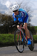 United Kingdom, Finchingfield, Mar 27, 2010:  Tony May, North Road CC, approaches the 4 miles to go marker during the 2010 edition of the 'Jim Perrin' Memorial Hardriders 25.5 mile Sporting TT promoted by Chelmer Cycling Club. Copyright 2010 Peter Horrell.