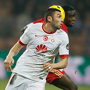 Galatasaray's Burak Yilmaz during their Turkish superleague soccer match Kardemir Karabukspor between Galatasaray Dr. Necmettin Seyhoglu stadium in Karabuk Turkey on Saturday 08 November 2014. Photo by Kurtulus YILMAZ/TURKPIX