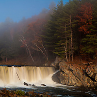 Waterfall near Springfield, VT at dawn.