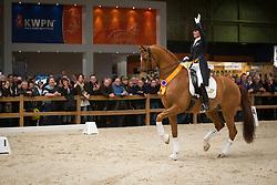 Cornelissen Adelinde (NED) - Jerich Parzival<br /> KWPN Hengstenkeuring - 's Hertogenbosch 2012<br /> © Dirk Caremans
