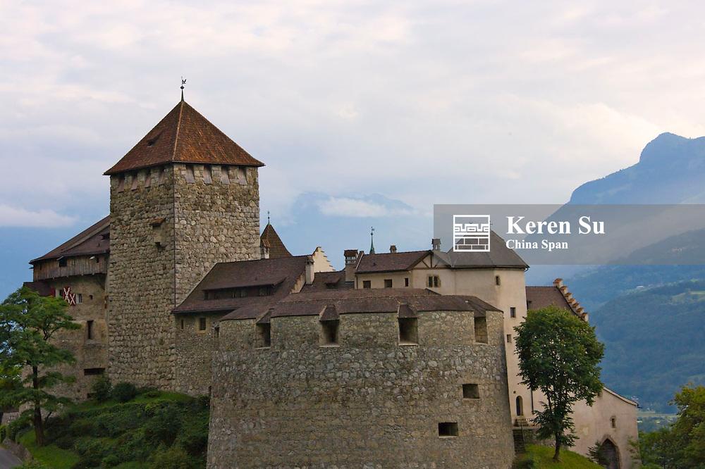Vaduz Castle on the hilltop, Vaduz, Liechtenstein