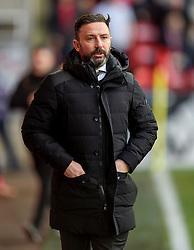 Aberdeen Manager Derek McInnes before the Scottish Premiership match at Pittodrie Stadium, Aberdeen.