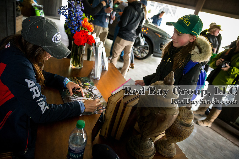 Poster signing in the Land Rover Ultimate Stable Experience at the 2019 Land Rover Kentucky Three-Day Event presented by MARS EQUESTRIAN in Lexington, Kentucky