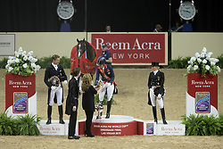 Dujardin Charlotte, (GBR), Valegro  and second placed Edward Gal and Thirty placed Jessica von Bredow-Werndl<br /> Kur<br /> Reem Acra FEI World Cup™ Dressage Final<br /> Las Vegas 2015<br />  © Hippo Foto - Dirk Caremans<br /> 19/04/15