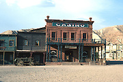 SPAIN, ANDALUSIA 'Mini Hollywood' movie set for westerns; mainstreet, near Tabernas, north of Almeria