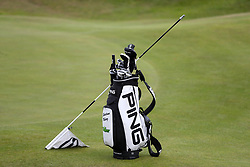 The golf bag of Colombia's Sebastian Munoz and a flag post during practice day four of The Open Championship 2017 at Royal Birkdale Golf Club, Southport.