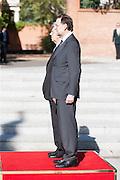 Prime Ministers, Mariano Rajoy and Mario Monti, hear de hymn