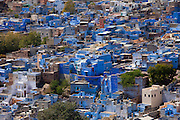 The Brahman Blue City, Brahmpuri area, of Jodhpur in Rajasthan, Northern India