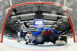 Joonas Kemppainen of Finland vs Gasper Kroselj of Slovenia during Ice Hockey match between Finland and Slovenia at Day 7 in Group B of 2015 IIHF World Championship, on May 7, 2015 in CEZ Arena, Ostrava, Czech Republic. Photo by Vid Ponikvar / Sportida