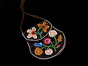 Antique Native American Iroquois Floral Beaded Bag.